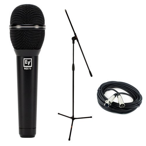Electro-Voice ND76 Dynamic Cardioid Vocal Microphone with Microphone Essentials Accessories ()