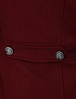 Doublju Womens Hooded Double Breasted Pea Coat Jacket