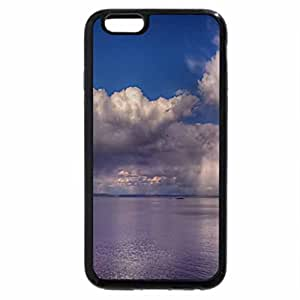 iPhone 6S / iPhone 6 Case (Black) Puffy Clouds on the Shiny Lake