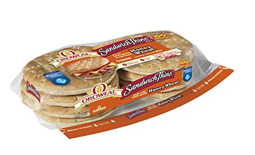Oroweat Sandwich Thins Honey Wheat Pre-sliced 8 per package (Pack of 2)