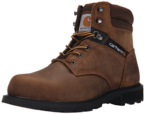 Carhartt Men's 6 Work Safety Toe NWP-M, Crazy Horse Brown Oil Tanned, 10 W US
