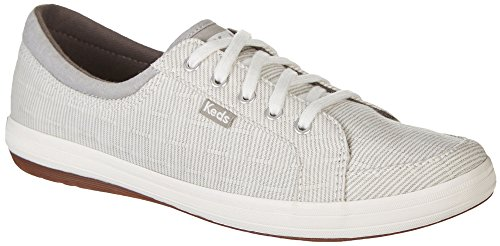Keds Women's Vollie LL Railroad Stripe Sneaker,Gray,9 M US