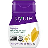 Pyure Organic Liquid Stevia Sweetener, Vanilla, 1.8 Fluid Ounce
