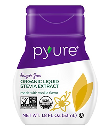 Pyure Organic Liquid Stevia Sweetener, Vanilla, 1.8 Fl oz (Pack of 12) by Pyure
