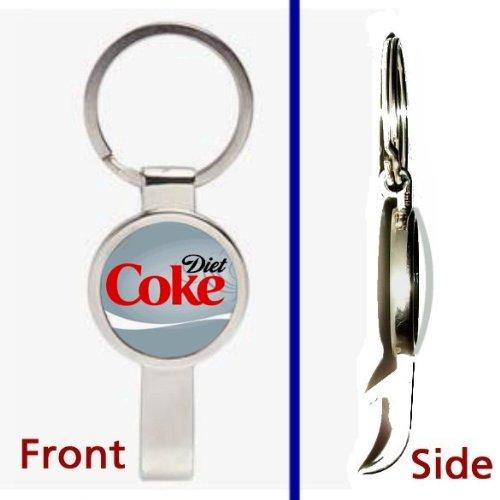 Diet Coke Pendant or Keychain Silver Tone Secret Bottle Opener