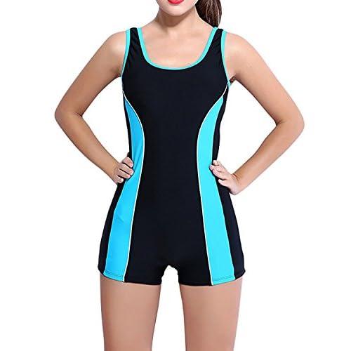 f8ff2a1449d Moda Traje de Baño de Deportes Traje de Natación Bañador Pieza con  Pantalones Cortos Elástico Cómodo