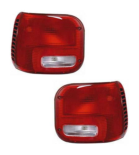 1994-2003 Dodge Full Size Ram Van 1500 2500 3500 Taillight Taillamp Rear Brake Tail Light Lamp Set Pair Right Passenger AND Left Driver Side (1994 94 1995 95 1996 96 1997 97 1998 98 1999 99 2000 00 2001 01 2002 02 2003 03)