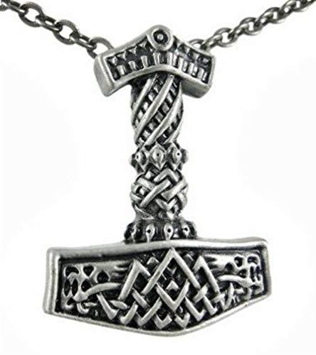 Ky & Co YesKela Lead-Free Pewter Necklace - Thor Hammer Norse Mythology Jewelry Accessory
