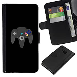 All Phone Most Case / Oferta Especial Cáscara Funda de cuero Monedero Cubierta de proteccion Caso / Wallet Case for HTC One M9 // GAMING FOREVER N64