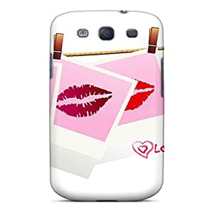 AmacaAcc AFP1272wLyv Case For Galaxy S3 With Nice Lips Of Love Appearance