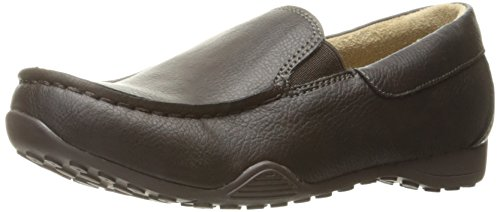 The Children's Place Boys' Dressy Shoe Ballet Flat, Dark Brown, Youth 1 M US Big Kid