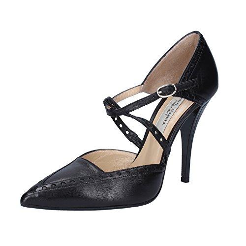 MARRA Woman Pumps Black Leather GIANNI Sandals Heeled FCwdwaq