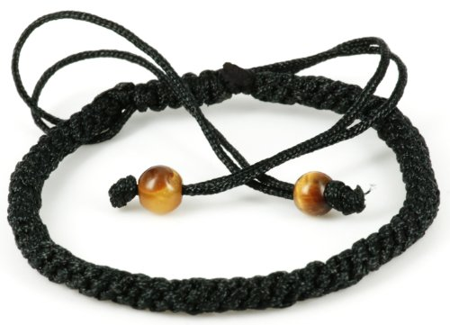 Handmade Black String Macrame style adjustable Bracelet- good for healing – ST011