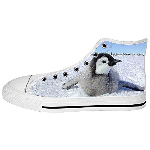 Da Ginnastica Delle I Shoes Canvas Alto Pinguino Custom Lacci Women's Scarpe Tetto Ww8F1gaq