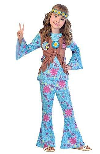 on sale 294fd b9bd6 Ragazze Blu Floreale Hippie Hippy Anni '60 1960s Anni ...