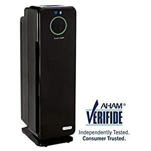"""GermGuardian CDAP4500BCA 22"""" 4-in-1 WiFi Smart Air Purifier for Homes, Allergies, Smoke, Dust, Dander, Pollen & Odors 