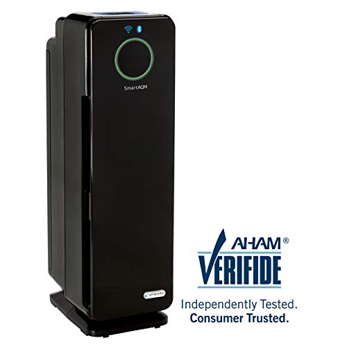 "GermGuardian CDAP4500BCA 22"" 4-in-1 WiFi Smart Air Purifier for Homes, Allergies, Smoke, Dust,..."