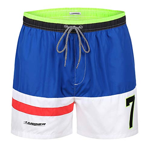 011e6c30b0 anqier Mens Swim Trunks Quick Dry Swim Shorts with Mesh Lining Swimwear  Bathing Suits