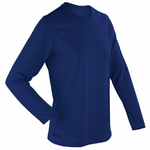 Spiro à séchage rapide à manches longues pour femme couleur bleu marine taille S