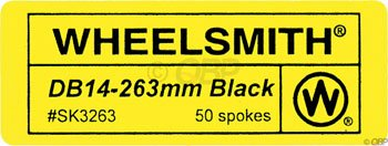 Wheelsmith 2.0/1.7 x 294mm Black Spokes. Bag of 50. by Wheelsmith