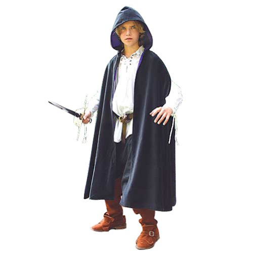 Velvet Long Cape for Children - Halloween Costume Magician Wizard]()