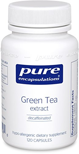 - Green Tea Extract - Decaffeinated - Hypoallergenic Antioxidant Support for All Cells in the Body* - 120 Capsules ()