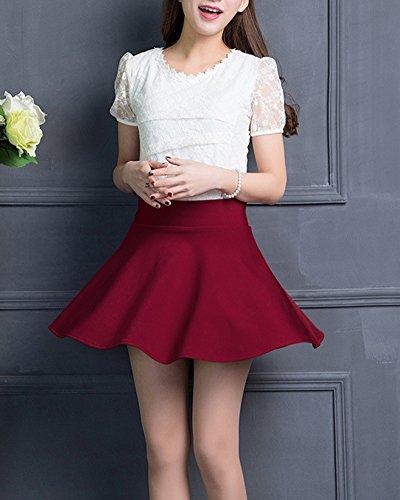 Courte Haut ZiXing Taille Vin en Jupe Femmes Elastique vase Mini Polyester 6qYAY
