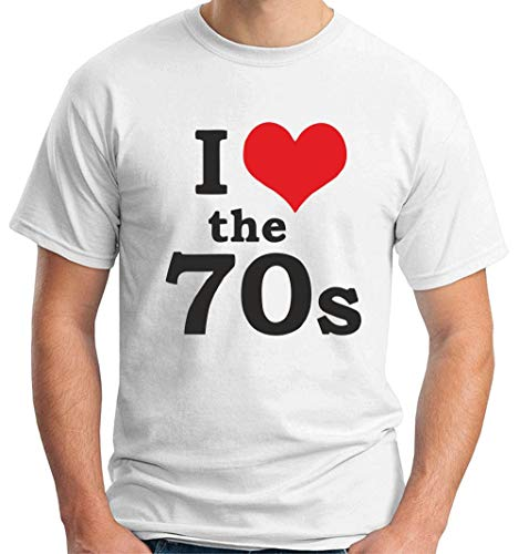 shirt The S Love Tr0066 Glam Homme I 70 Vintage Rock Retro Blanc Seventies 70s T HpYqdH