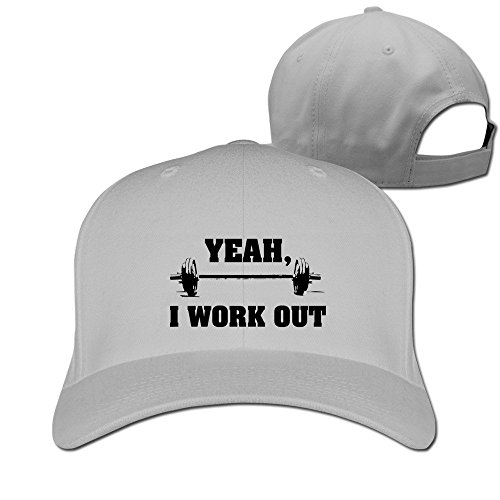 Yesher Geek I Work Out Baseball Cap - Adjustable Hat - Ash