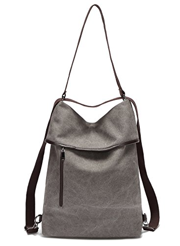 Backpack Vintage Work School Daily Top Handle Hozee Bag Shopping Gray Tote Casual Black Ladies Womens Canvas Bags Travel Handbag For Shoulder xwg1Zg60qY