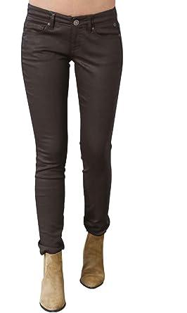 ddfb731bff80a Freeman T Porter - Pantalon - Skinny - Femme Marron Chocolat - Marron - 32