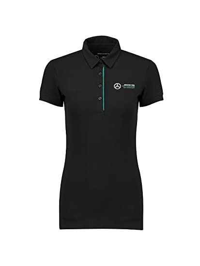 Mercedes Benz Petronas AMG Formula 1 Womens Classic Team Gray Polo Shirt