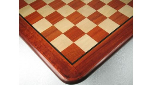 Chessbazaar Wooden Chess Board Blood Red Bud Rose Wood 18` - 45 Mm