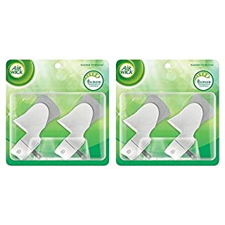 Air Wick Scented Oil Warmer Plugin Air Freshener, White, 2 ct (Pack of 2)