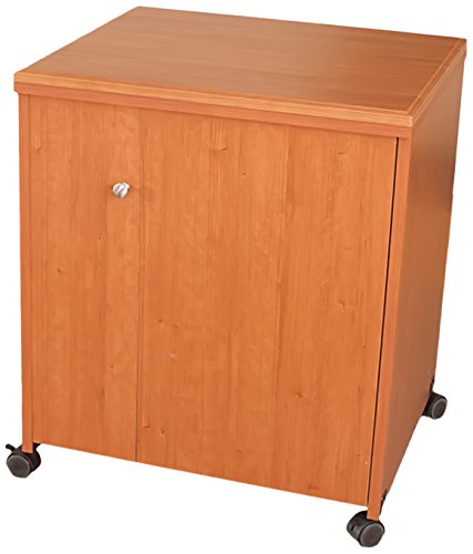 Model 7400 Space Saver Sewing Cabinet Pocket Doors, extra leg room, door forms support. Electric Lift White