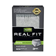 Depend Underwear Real Fit for Men, Max Absorbency - Small/Medium, 3 Count