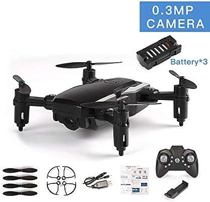 Pudincoco LF606 3 Baterías Drone Con 0.3MP Cámara FPV Quadcopter ...