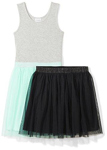 Spotted Zebra Little Girls' Tutu Tank Dress and Skirt Set, Mint Green/Black Small (6-7) - Zebra Tank Dress