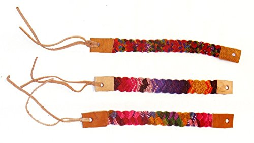 "FB000-001 Assorted 1"" Wide Artisan Woven Friendship Bracelet Guatemala 3 Pack from Unknown"