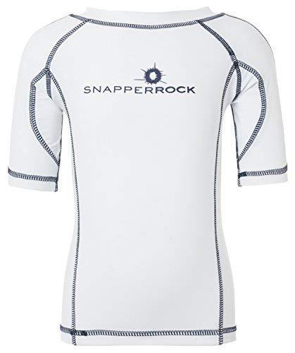 Snapper Rock Kids' SS UV50 Swim Shirt Navy 16 by Snapper Rock