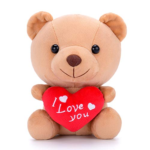 Gloveleya Plush Teddy Bear with Heart I Love