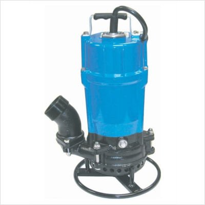 Tsurumi HSD2.55S-61 Semi-Vortex Submersible Trash Pump with Agitator, 3/4 HP, 115V, 2'' Discharge
