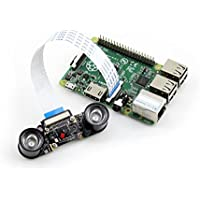 Waveshare Raspberry Pi Camera Module OV5647 Night Vision 5MP Webcam Video 1080p for  Raspberry Pi A/A+/B/B+/2 B/3 Model B
