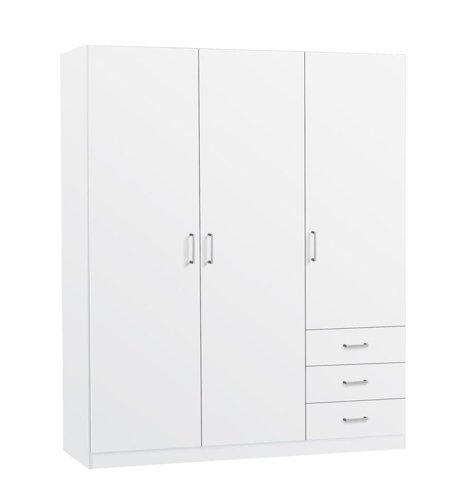 jysk wardrobe hagendrup 3doors 3drawer white