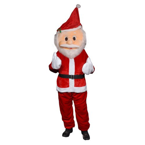 Forum Novelties Men's Plush Santa Claus Mascot Costume, Red, One Size (Funny Santa Costumes)