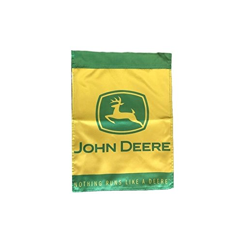 John Deere 2 Sided Garden Flag Green/Yellow Nothin Runs Like A Deere