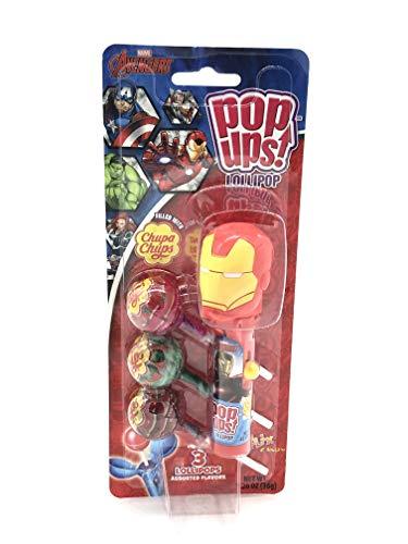Spider Man Lollipop Holder - Flix Candy Pop Ups! Lollipop Holder filled with Chupa Chups - Marvel Spiderman