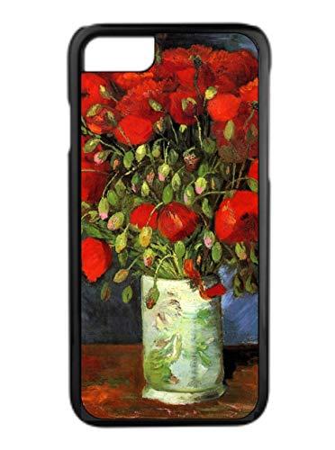 Artist Claude Monet's Vase of Red Poppies Design Black Rubber Case for The Apple iPhone 6 Plus/iPhone 6s Plus - Apple iPhone 6 Plus Accessories -iPhone 6s Plus Accessories