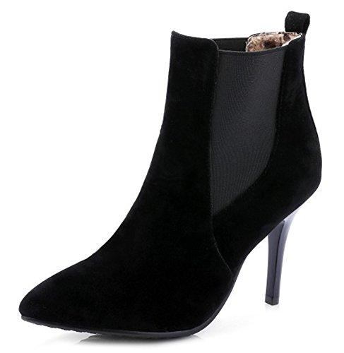 Easemax Femme Sexy Talon Aiguille Chaussure Montante Bottines Noir 0oPgkc