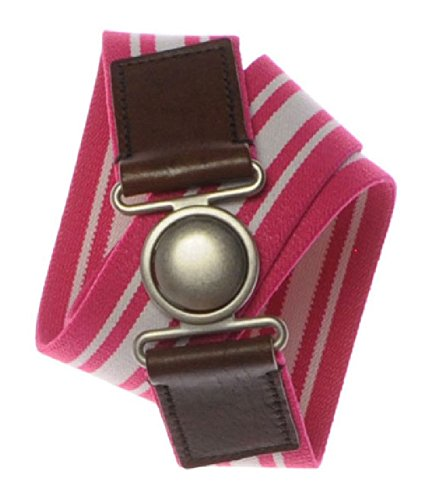 Aeropostale Womens Stripe Stretchy Belt, Pink, M/L